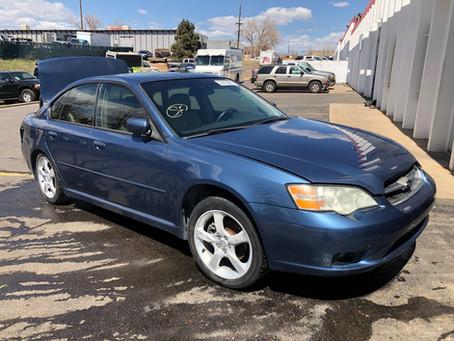 2007 Subaru Legacy sedan 2.5L 156k A/T Blue
