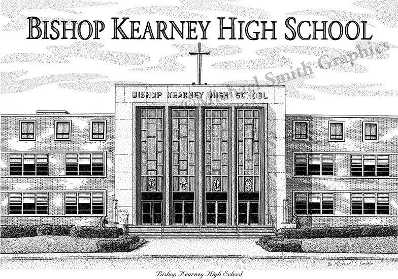 Bishop Kearney High School art print by Michael Smith