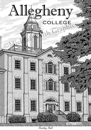 Allegheny College art print by Michael Smith