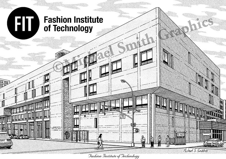 Fashion Institute of Technology art print by Michael Smith