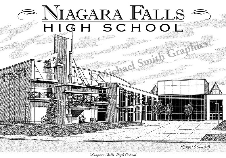 Niagara Falls High School art print by Michael Smith