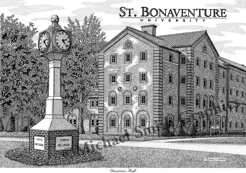 St. Bonaventure Devereux Hall art print by Michael Smith