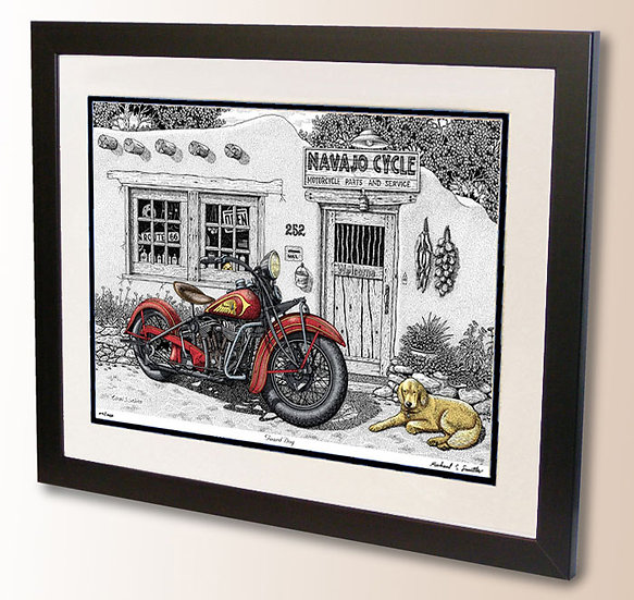 Indian Motorcycle art print by Michael Smith