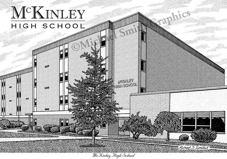 McKinley High School art print by Michael Smith