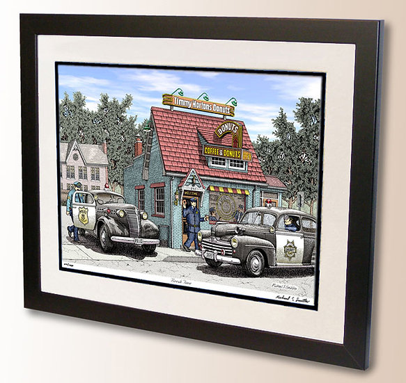 Law enforcement pen and ink art print by Michael Smith