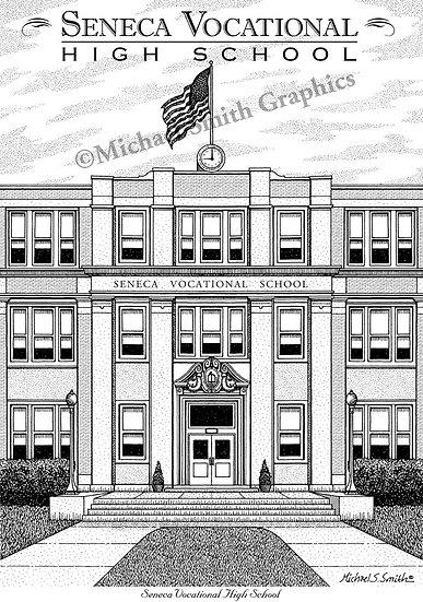Seneca Vocational High School art print by Michael Smith