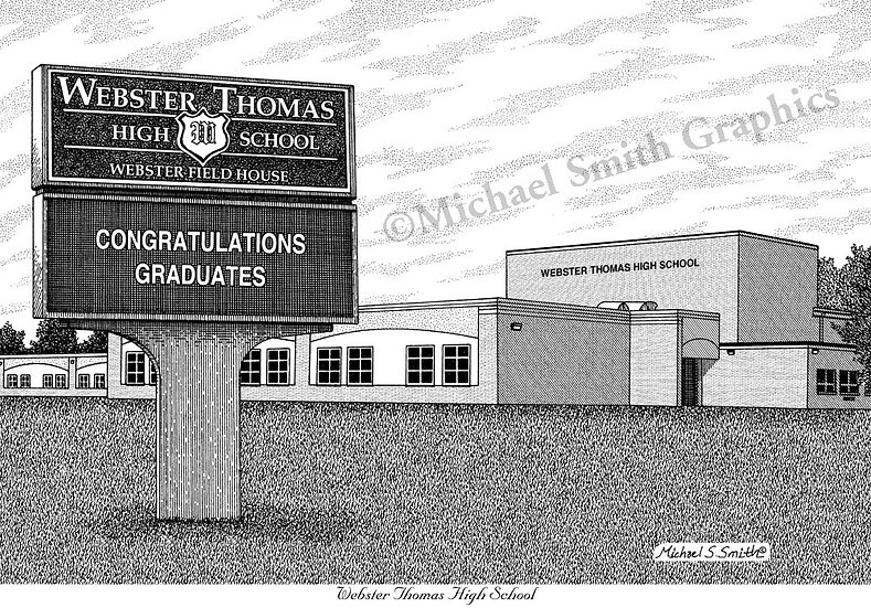 Webster Thomas High School art print by Michael Smith