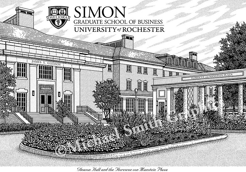University of Rochester Simon School of Business art print