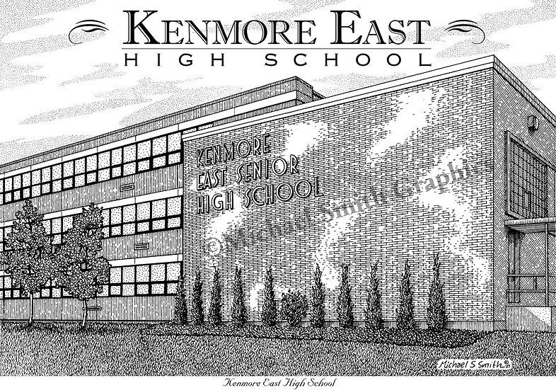 Kenmore East High School art print by Michael Smith