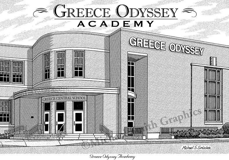 Greece Odyssey High School art print by Michael Smith