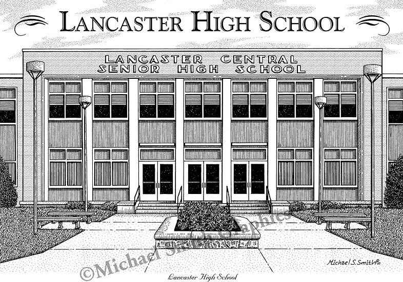 Lancaster High School art print by Michael Smith