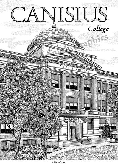 Canisius College art print by Michael Smith