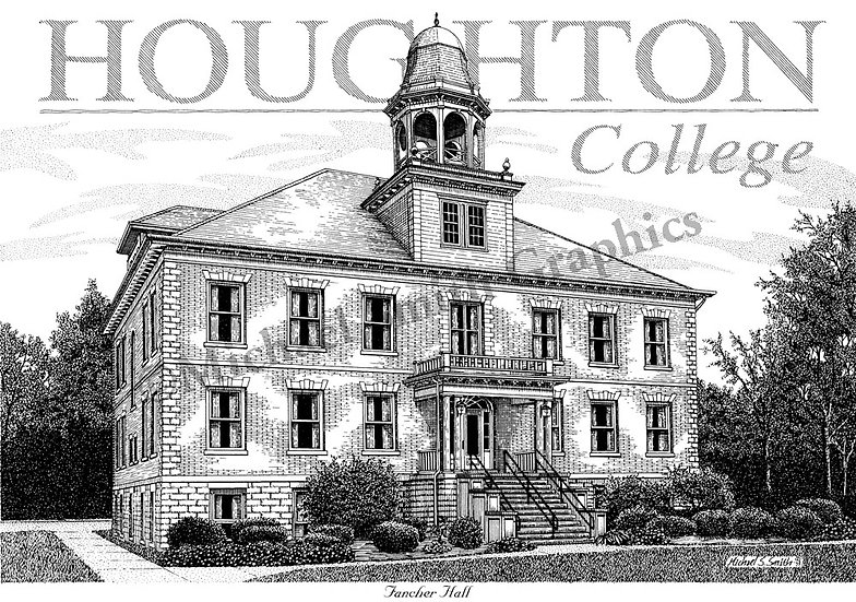 Houghton College art print by Michael Smith