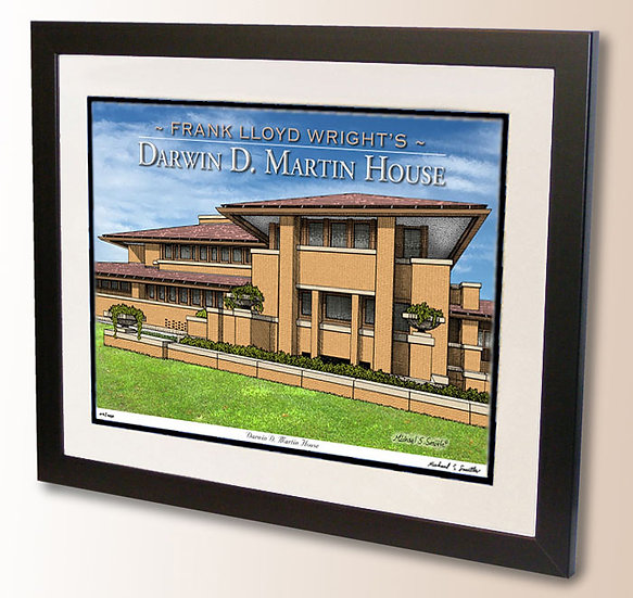 Frank Lloyd Wrights Darwin Martin House art print by Michael Smith