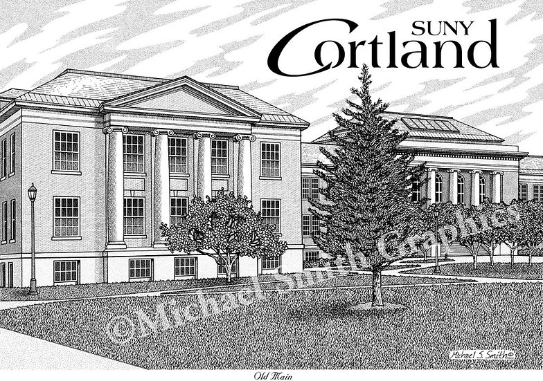 SUNY Cortland art print by Michael Smith