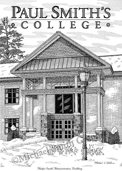 Paul Smith's College art print by Michael Smith