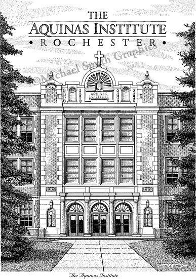 The Aquinas Institute of Rochester art print by Michael Smith