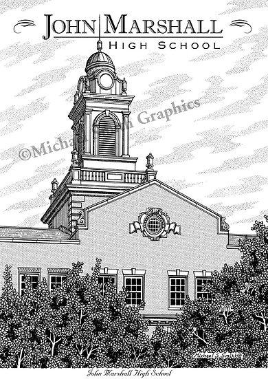 John Marshall High School art print by Michael Smith