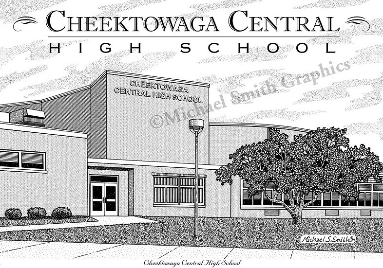 Cheektowaga High School art print by Michael Smith