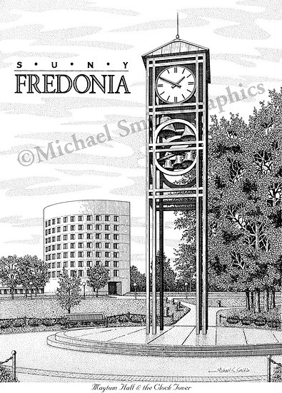 SUNY Fredonia art print by Michael Smith