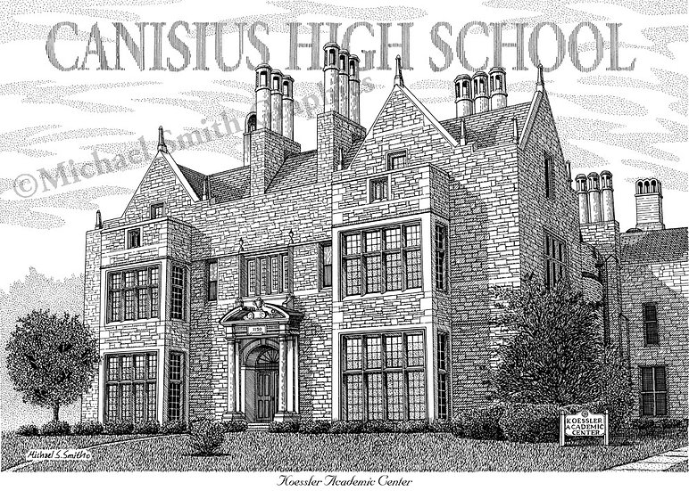 Canisius High School art print by Michael Smith