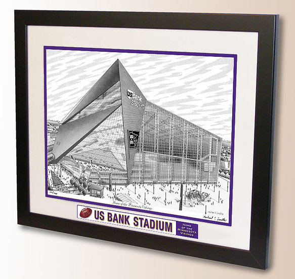 US Bank Stadium wall art