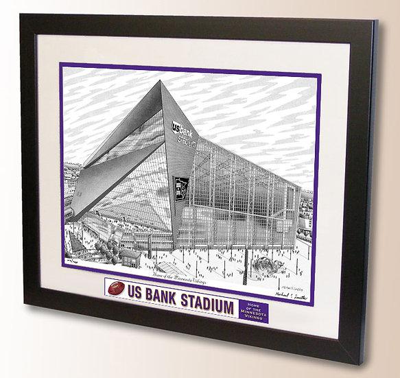 US Bank Stadium wall art