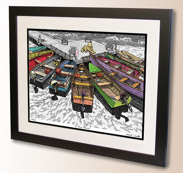 Boats at Dock art print by Michael Smith
