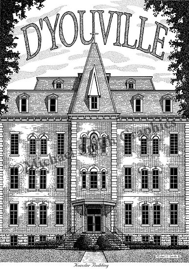 DYouville College art print by Michael Smith