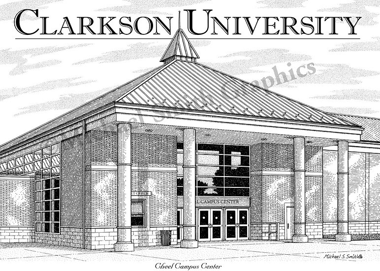 Clarkson University Cheel Center art print by Michael Smith