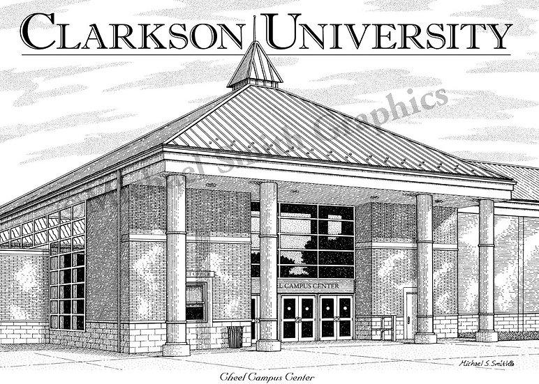 Clarkson University Cheel Center art print by Michael Smith