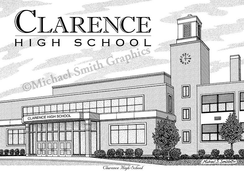 Clarence High School art print by Michael Smith