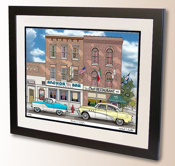 Anchor Bar Chefs Restaurant art print by Michael Smith
