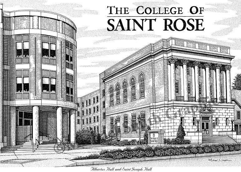 The College of Saint Rose art print by Michael Smith