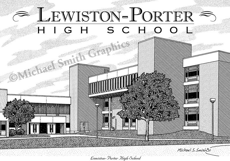 Lewiston-Porter High School art print by Michael Smith