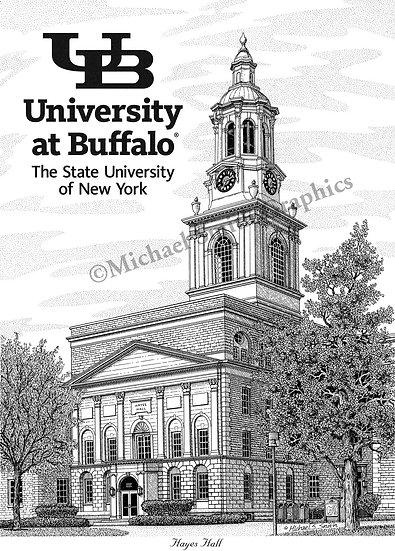 University at Buffalo South Campus art print by Michael Smith