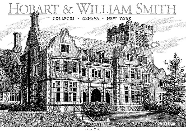 Hobart and William Smith College art print by Michael Smith