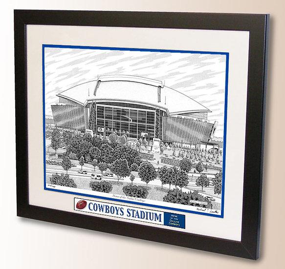 Cowboys Stadium wall art