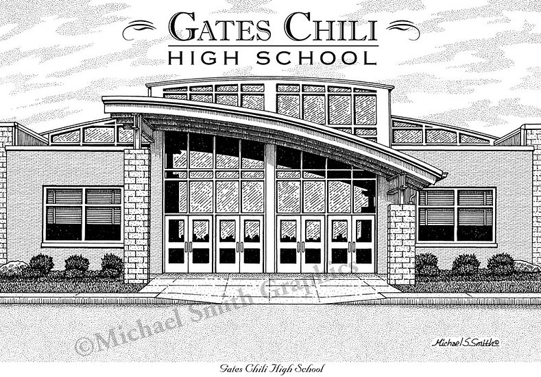 Gates Chili High School art print by Michael Smith