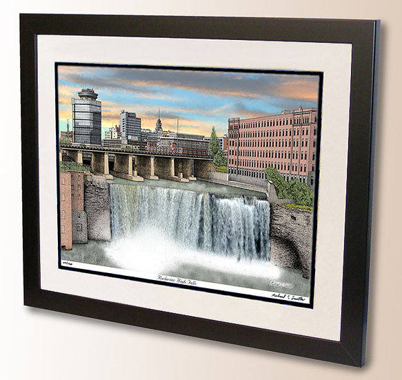 Rochester High Falls art print by Michael Smith