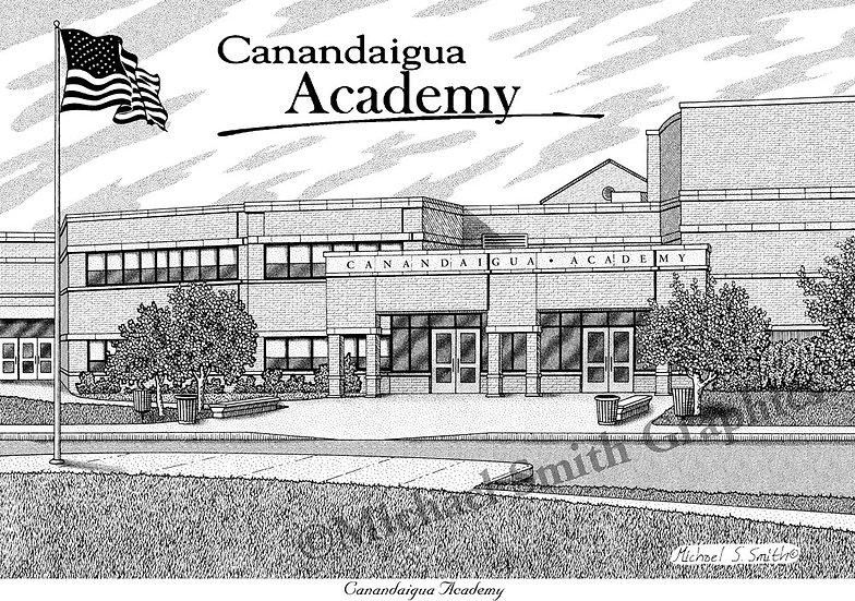 Canandaigua Academy art print by Michael Smith