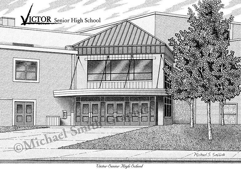 Victor Senior High School art print by Michael Smith