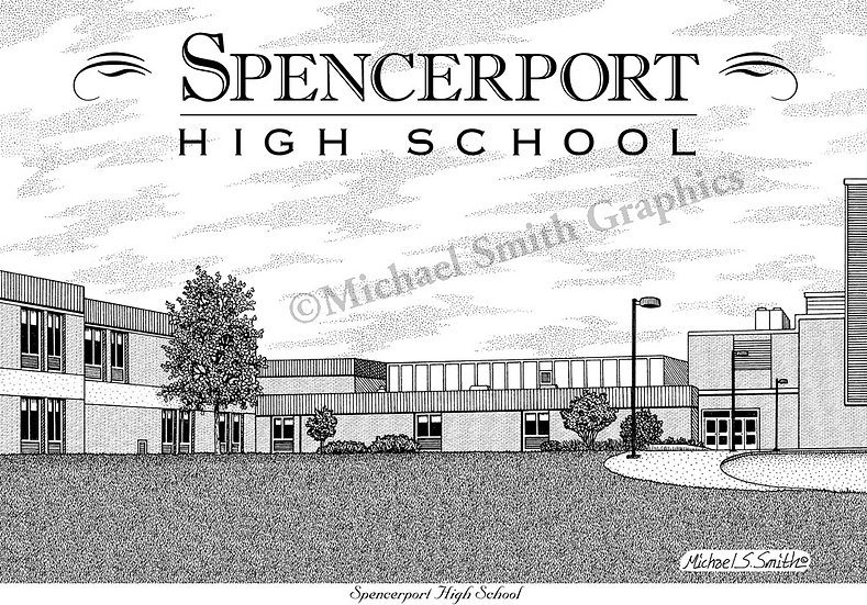 Spencerport High School art print by Michael Smith