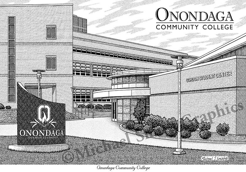 Onondaga Community College art print by Michael Smith