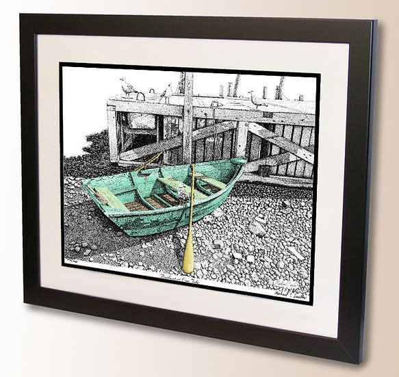 Rowboat at Low Tide art print by Michael Smith