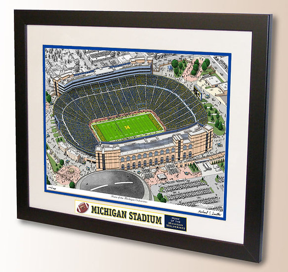 Michigan Stadium wall art