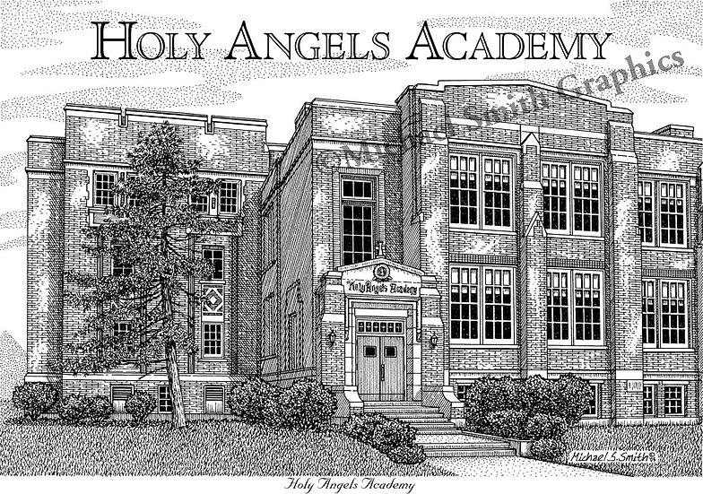 Holy Angels Academy art print by Michael Smith
