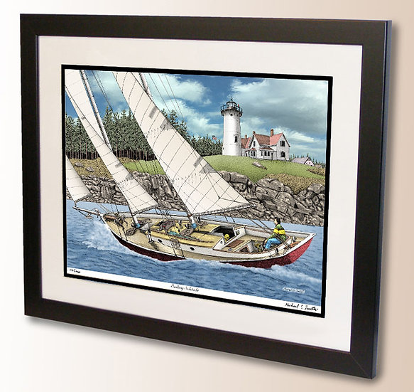 Sailing Solitude art print by Michael Smith