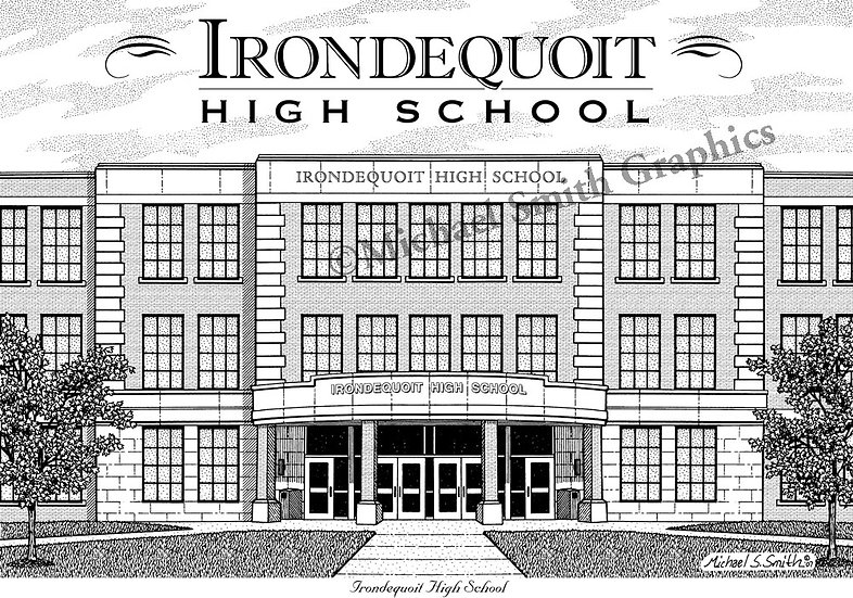 Irondequoit High School art print by Michael Smith