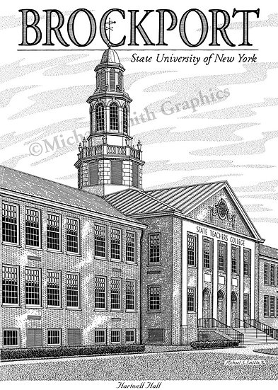 SUNY Brockport art print by Michael Smith